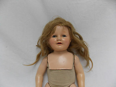 """Vintage Composite Doll 21"""" Tall Sandy Blonde Hair and Gray Eyes Composition Doll"""