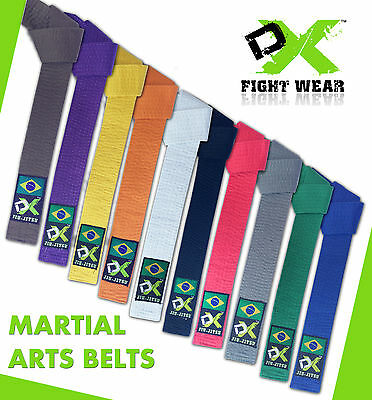 DX Belts Karate Judo Taekwondo White Yellow Red Purple Orange Grey Brown Blue