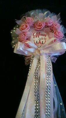 Baby Shower Princess Roses Mommy Baby Shower Corsage Itu0027s A Girl