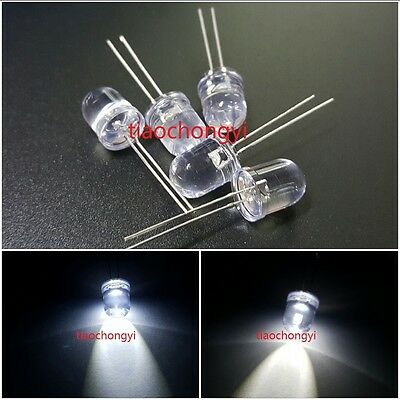20 x LED 10mm Blue .5 Watt Ultra Super Bright High Power LEDs 0.5w half 1//2 Car