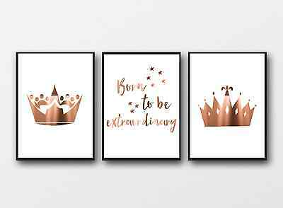 Copper Nursery Wall decor / Prince Princess Posters / Cute Kids homewares Prints