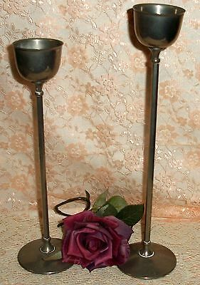 Vintage Pair WA Silver Plated Candle Holders