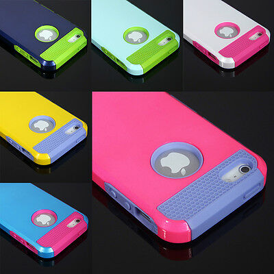 New For Apple iPhone 4S 5S 5C 6 Plus Shockproof Silicone Back Case Cover