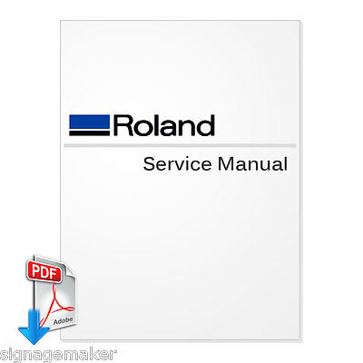 Roland CAMM-1PRO CX-500/400/300 Service Manual PDF File FREE SHIPPING