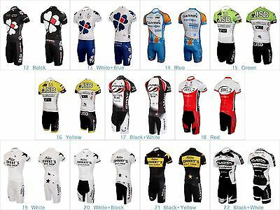 Mens Cycling Jersey Kit Bike Bicycle Team Shirts Shorts Pants Short Sleeve Set