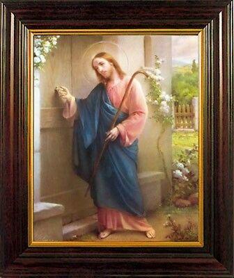 Christ Knocking At The Door Framed Picture - Crucifixes Statues & Candles Listed