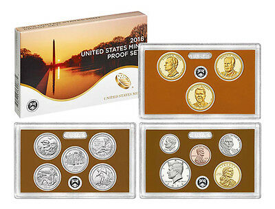 2016 US Proof Set 13 Deep Cameo Proofs 16RG MInt Fresh Complete Delivered Safe