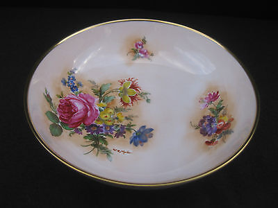Caverswall Fine Bone China Hand Painted Floral Bowl Signed by W.R Tipton