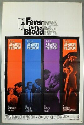 A Fever In The Blood -Angie Dickinson/jack Kelly- Original Usa 1Sht Movie Poster