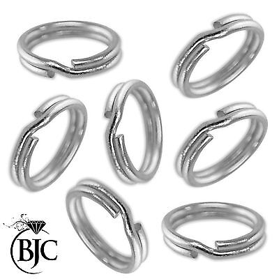 8mm 925 Solid Sterling Silver Split Rings Ring For Fitting Charms & Pendants