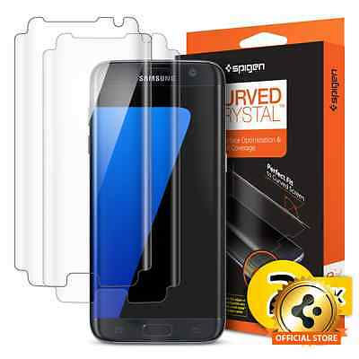 Spigen® Curved Crystal HD full Coverage Screen Protector For Galaxy S7 Edge 2PK