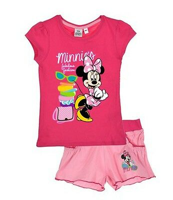 Disney Minnie Mouse T-Shirt and Shorts Outfit Set Fuchsia