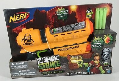 Nerf Zombie Strike Bio Squad Eraser Zr-100 Includes 2 Extra Cans Of Zombie Spray