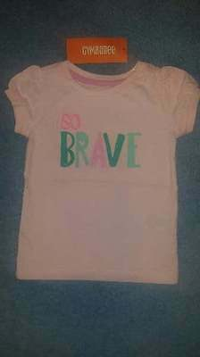 NWT Gymboree Hop 'N' Roll Baby Girls Pink So Brave Tee/Shirt, Size 12-18 Months