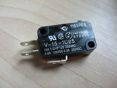 Omron Micro Limit Switch V-15-1C25 15A 125/250VAC #E66D