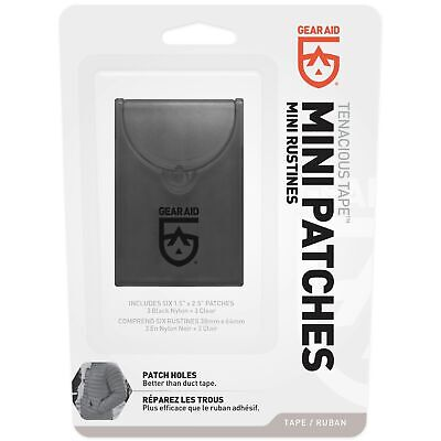 McNett Gear Aid Tenacious Tape Mini Repair Patches Black & Clear Lightweight