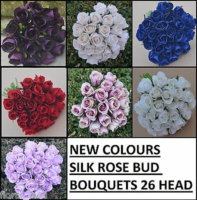 Silk Rose Roses Pre Made Bouquets Wedding Bridal Bouquet Artificial Posy Flowers