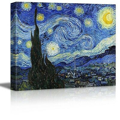 Vincent Van Gogh Starry Night Oil Painting Reproduction Printed Canvas Wall Art