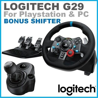 -Logitech G29 Driving Force Racing Wheel Pedals Shifter for PlayStation & PC