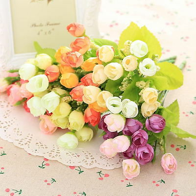 Mini Home Wedding Party Artificial Silk Flowers Camellia Colour Small