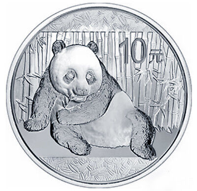 10 yuan¥ 1 ounce oz Silver Plated Panda Commemorative China Gold Coin Medal