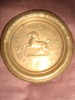 Old Vintage Brass Round Continental Balloons Tyre Advertisement Tray from India