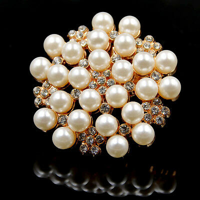 1 Pc Rhinestone Pearls Shoe Clips Buckle Removable Vintage Glamour Lady Women