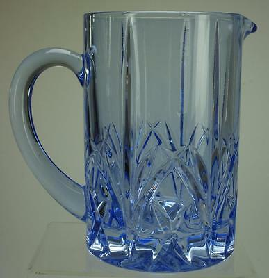 Marquis by Waterford Brookside Pastel Blue Pitcher Glass Jug KC105