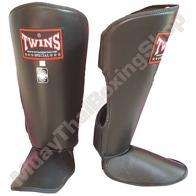 Twins Special Muay Thai Boxing Shin Guards SGL-2 Black Size S-M-L.