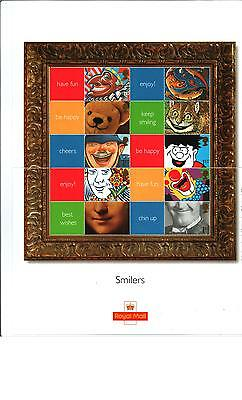 Ls5 2001 Generic Smilers Show Complete Sheet Stamps  *