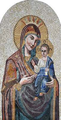 Jesus And Mary Mosaic Icon