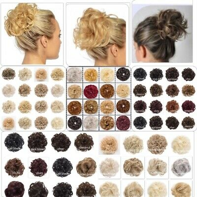 Koko XL Curly & Wavy Messy Bun Hair Piece Scrunchie Choose Your Shade Unboxed