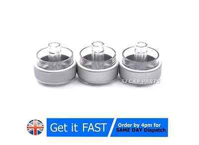 3x New SILVER Air Conditioning Heat Control Switch AC Knob Ford Focus MK2