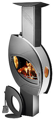 Fireplace Wood burning Stove Log Burner High Efficient Modern New FUOCO 12 kW