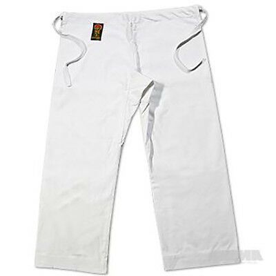 ProForce® Gladiator 100% Cotton Karate Pants - White (Traditional Waist)
