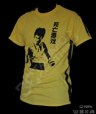 Bruce Lee T-shirt - jeet kune do mma yellow Training