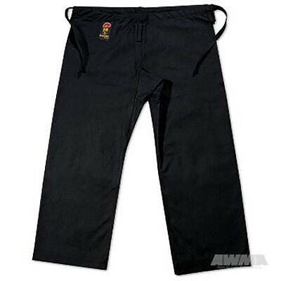 ProForce® Gladiator 100% Cotton Karate Pants - Black (Traditional Waist)