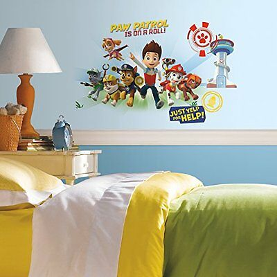 RoomMates Paw Patrol Wall Graphix Peel and Stick Giant Wall Decals, New, Free Sh