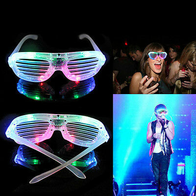 Unisex LED Light Shutter Glow Sunglasses For Festive Fun Night Club Party Disco
