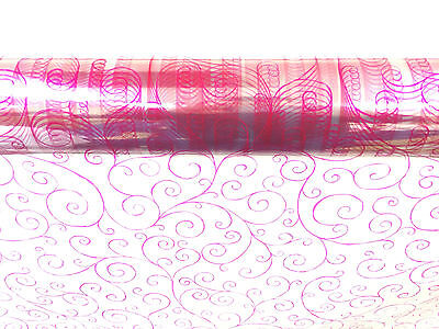 Cerise Scroll Cellophane Wrap  1M - 100 Meters  - Choose Your Length