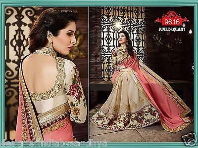Indian sari Bollywood Designer Saree blouse Wedding new bridal georgette sarees