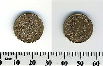 Netherlands - Curacao 1944 - 1 Cent Bronze Coin - Rampant lion - WWII