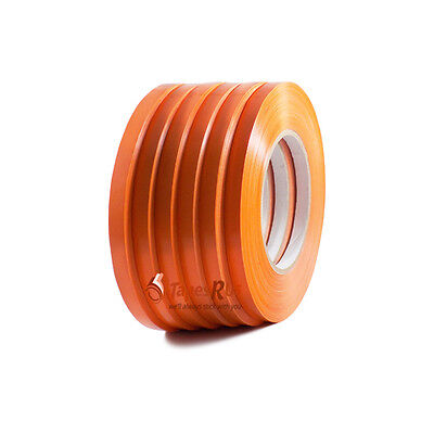 6 Rolls Orange Poly Bag Sealing Tape: 3/8 in. wide x 180 yds. length