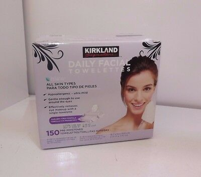 Kirkland Signature Daily Facial Wipes 75ct Cleansing Towelettes x 1