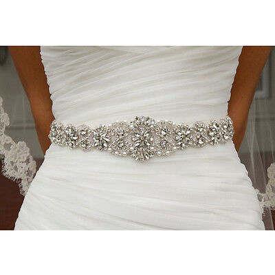 Wedding Bridal Belt Crystal Rhinestone Dress Sash Prom Sash Wedding Sash Belt