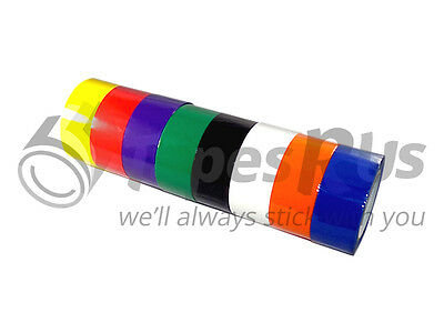 """8 ROLLS 2"""" x 55 YDS RAINBOW COLOR CARTON SEALING PACKING TAPE - FREE SHIPPING"""