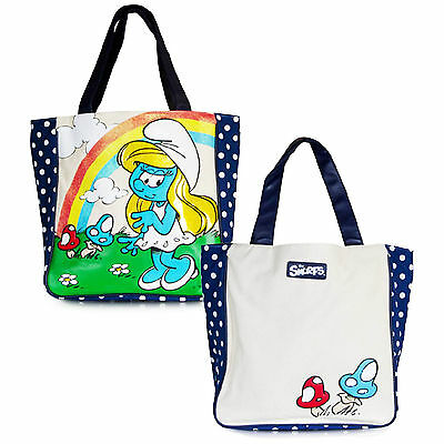 Loungefly Smurfs Smurfette Polka Dot Large Tote Bag NEW Carrier Purse