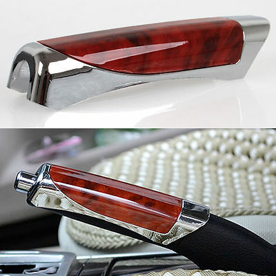 NEW Chrome Car Interior Hand Brake Cover Handbrake Decorative Covers Sleeves Red
