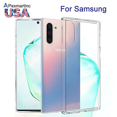 Fr Samsung Galaxy Note 10/S10/Plus+ Ultra Thin Clear Crystal TPU Soft Case Cover