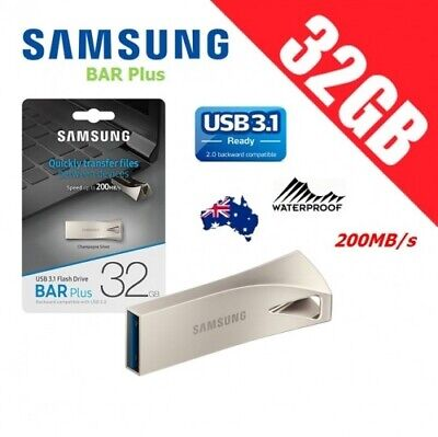 Samsung 32GB Bar Metallic Flash Drive BAR 32G USB 3.0 130MB/s *AU Warranty*